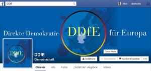 Logo des PEGIDA-Ablegers Direkte Demokratie für Europa (Screenshot der Facebook-Seite).