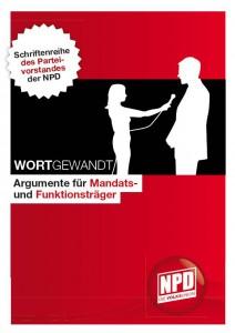 Titelblatt der Argumentationshilfe der NPD für Funktions- und Mandatsträger aus dem Jahr 2012.