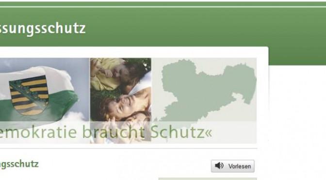 Screenshot der Homepage des sächsischen Landesamtes für Verfassungsschutz
